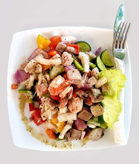 Фотосъемка салата для меню